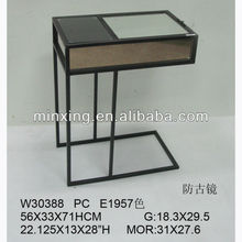 2013 Vintage metal and glass C shaped coffee table