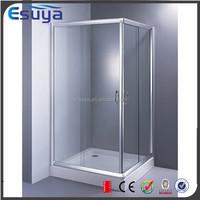 Shanghai Esuya acrylic base sliding common double glass door frame shower room