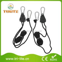 """Metal Pulley 1/8"""" Rope Ratchet Adjustable Grow Light Hangers"""
