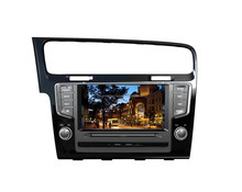 7.0 inch double din car dvd for VW GOLF 7 with navigation