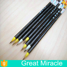 Top grade goat hair purple tip and yellow tip Chinese calligraphy brush pen for writing