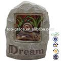 resina de caracol solar del jardín decoración