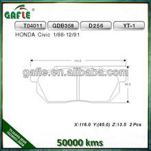 Brake pad suitable for HONDA CIVIC D256/GDB358