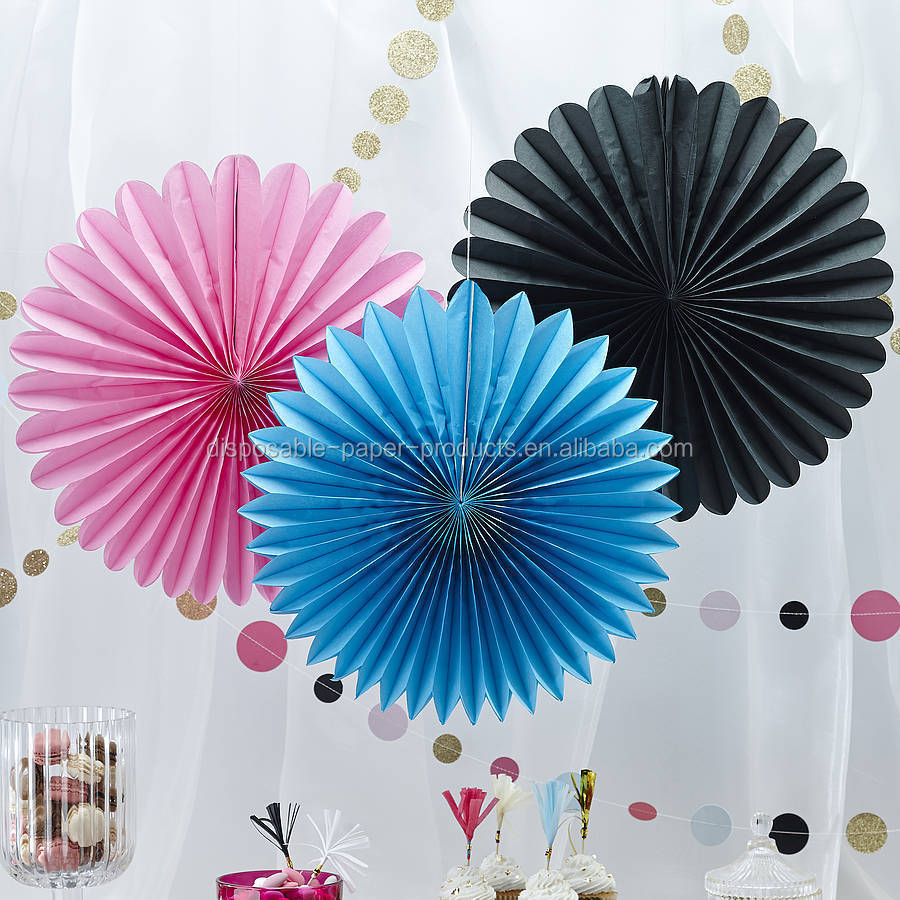 Hanging Tissue Paper Fans Diy Backdrop Wildflower Themed