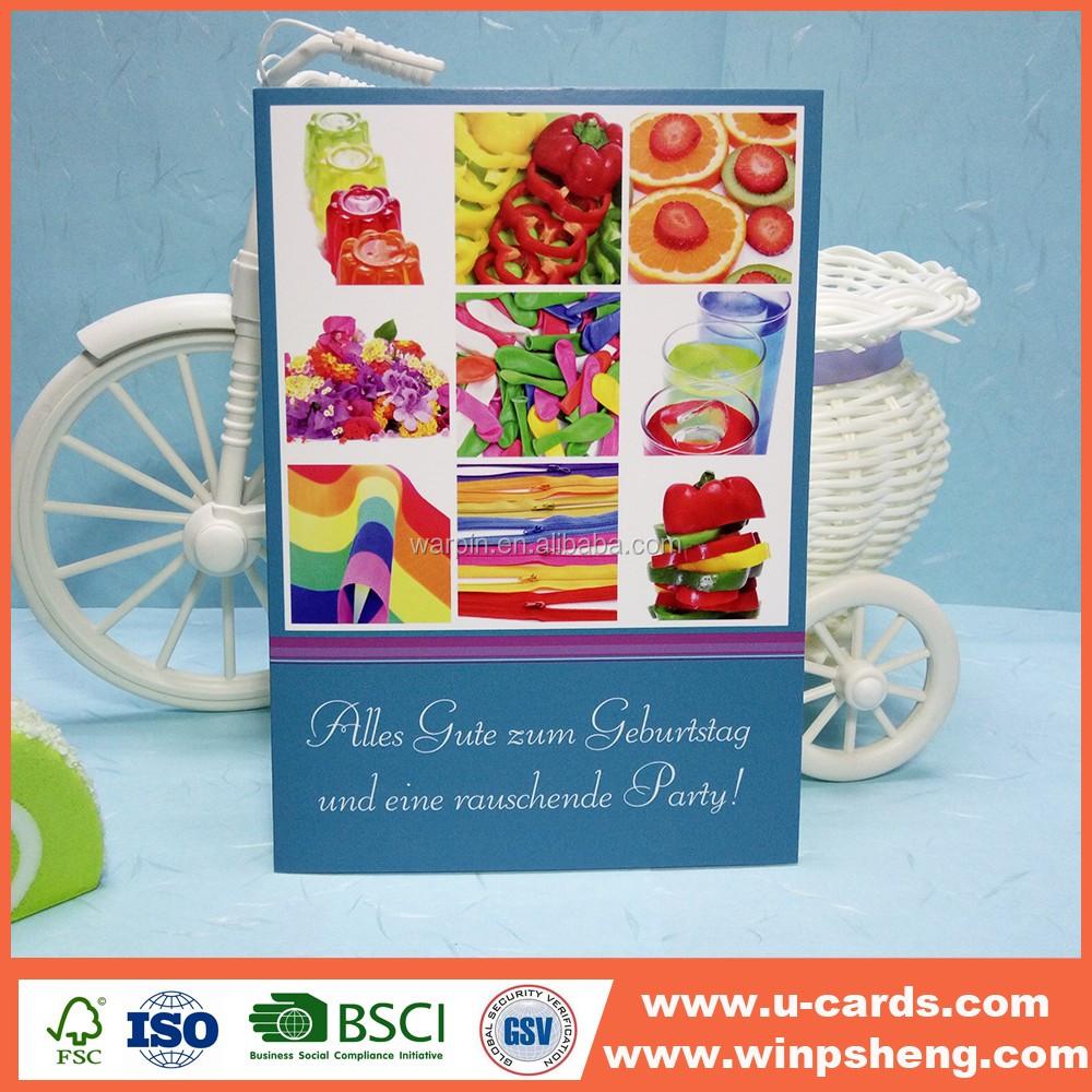 Printing Services Shenzhen Happy Birthday Greeting Card Buy