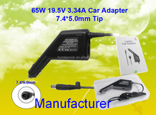 CE FCC ROHS CCC Manufacturer Wholesale 65W 19.5V 3.34A 7.4*5.0mm Tip adapter Car Adapter/Laptop Adapter for DELL