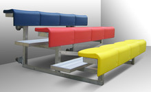 Ango Moblie Steel Bleacher with HDPE chairs , Movable Metal Bleacher for outdoor use