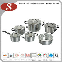 Best selling impact bottom professional stainless steel hotel cookware