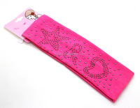 cotton elastic girls sports Headband in pink color