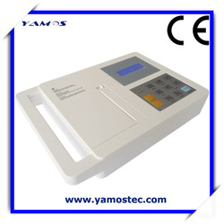 6 Channel 12 Lead Handheld ECG Machine Built-in Rechargeable Battery