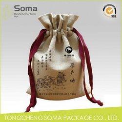 Top level manufacture canvas cotton drawstring bags