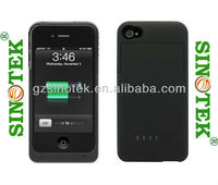 SINOTEK Ebay Hot Sale 1900mah External Backup Battery Charger Case Black Color For Iphone 4/4S