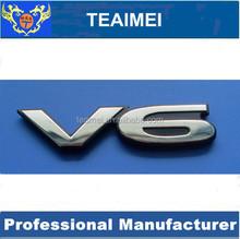 Chrome car emblem badge V6 car body side sticker design auto truck stickers