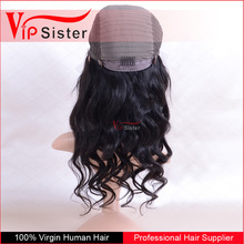 Factory Price stock 100% unprocessed brazilian hair long wavy natural black 1B 150% density full lace wig