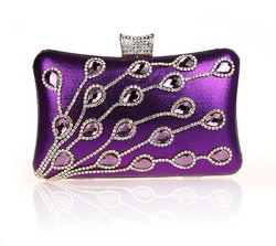 2015 New arrival designer crystal evening bags fashion elegent ladies evening clutch bags