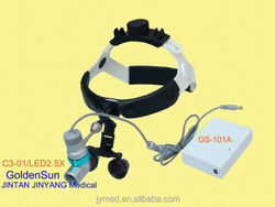 ENT surgery led magnifying glass with headlight