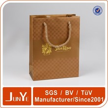 eco glossy paper gift bag with hot stamping