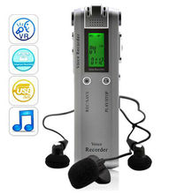 Digital Voice and Telephone Recorder Journalist Edition Music Player 4GB Memory + USB Drive