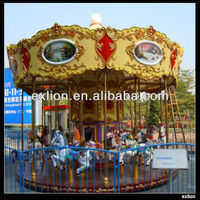 Outdoor Playground Luxurious Merry Go Round Carousel For Sale