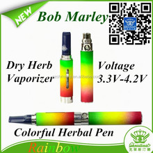 SD snoop herbal vaporizer pen Bob Marley/ rainbow dry herb vaporizer bob marley/ Bob Marley vaporizer pen
