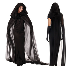 New Female ghost black dress carnival sexy witch halloween costume