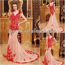 Nouvelle mode de conception customed jz028 sexy. sirène, dos nu, zuhair murad robe de soirée de mode 2013