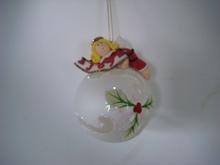 nueva bola de cristal con arcilla de color plastilina para adornos de navidad