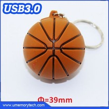 Basketball shaped 3.0 usb customized pvc usb flash drive portable usb