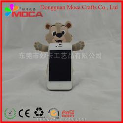 Custom new design fashion pvc mobile phone holder with cartoon