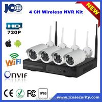 NVR kit 4CH wireless wifi sport ip66 outdoor waterproof camera with nvr kit