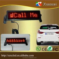 Wireless Remote control 12Volt car flashing led brake signal lights LED message display glass rear window sign