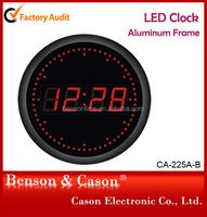 good quality round LED digital wall clocks