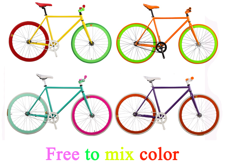 Good Quality Single Speed Bicycle Frame Cheap Bike Frames Colorful ...