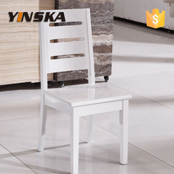 high glossy white wood dining chair