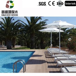 Outdoor wood plastic composite decking for garden with CE Certification / wpc decking Manufacturer,high quality wpc board