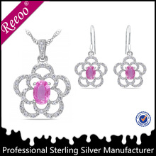 New chain zircon pendent silver jewelry party