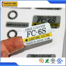 Customized adhesive heat resistant labels stickers paper