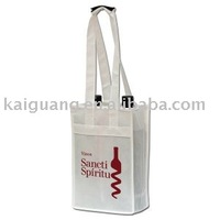 2014 Promotional 2 bottle non woven reusable wine bag/tote