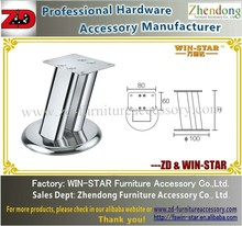 ZD-A016 Double flat tube sofa legs/ furniture legs