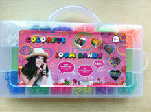 2014 latex free rubber loom bands case /loom bands kit