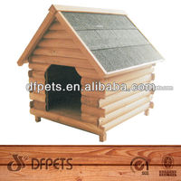 Outdoor Waterproof Wooden Dog Kennel With Bitumen Roof Dog Kennel DFD006