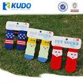 Personalizada anti- deslizamiento pet calcetines del zapato para perros y gatos