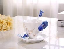 Enamels Ceramic Golden FIsh Coffee Tea Set Cup/Saucer/Spoon Expresso Tasse Assiette, ceramic mug Christmas Gift