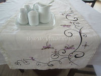 Embroidery Table runner - Dragon fly
