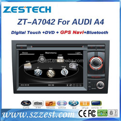 ZESTECH wholesale double din car dvd player for Audi A4(Unilateral button) car radio dvd with gps bluetooth3g