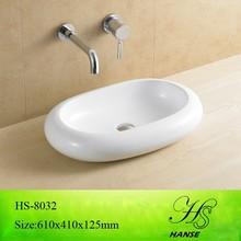 Prezzo a buon mercato hs-8032 bagno in ceramica bagno bacino