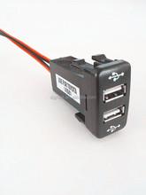 auto usb 5v car charger , dual usb car charger for toyota vigo honda hilux