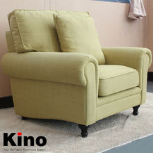 Modern European Style Single Seater Sofa High Quality Linen and Cotton Fabric Armchair in Living Room Furniture