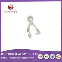 New arrival strictly checked gold, rhodium sterling silver pendant