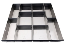 Stainless Steel Cutlery Tray, Cutlery Organizer, Drawer Organizer with Self-extension Device